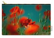 Red Poppy Flowers 05 Carry-all Pouch