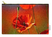 Red Poppy Flowers 08 Carry-all Pouch by Nailia Schwarz