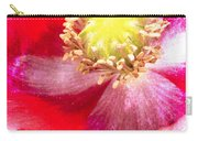 Red Poppy On Blue Carry-all Pouch