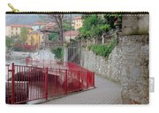 Red Rail Walkway To Varenna Along Lake Como Carry-all Pouch