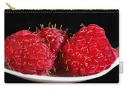 Red Raspberries On A White Spoon Against Black No.0102 Carry-all Pouch