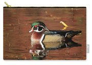 Red Reflection Of A Wood Duck Carry-all Pouch