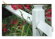 Red Rhododendron And White Post Carry-all Pouch
