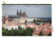 Red Rooftops Of Prague Carry-all Pouch by Linda Woods