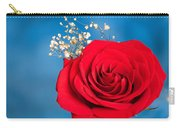 Red Rose And Baby Breath Carry-all Pouch
