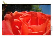 Red Rose Flower Bright Colorful Vivid Red Floral Rose Carry-all Pouch