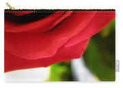 Red Rose In Glass Vase Carry-all Pouch