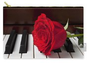Red Rose On Piano Carry-all Pouch