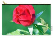 Red Rose With Star-shaped Collar Carry-all Pouch