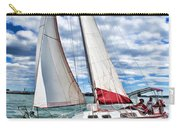 Red Sailboat Green Sea Blue Sky Carry-all Pouch