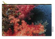 Red Soft Corals And Blue Leather Sea Carry-all Pouch