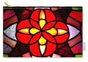 Red Stained Glass Carry-all Pouch by LeeAnn McLaneGoetz McLaneGoetzStudioLLCcom