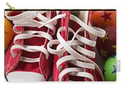 Red Tennis Shoes And Balls Carry-all Pouch