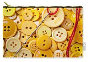 Red Thread And Yellow Buttons Carry-all Pouch