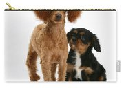 Red Toy Poodle And Cavalier King Carry-all Pouch