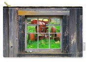 Red Tractor Thru Old Window Carry-all Pouch