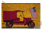 Red Truck Against Yellow Wall Carry-all Pouch