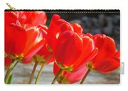 Red Tulip Flowers Art Prints Spring Florals Carry-all Pouch