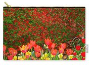 Red Tulip Flowers Carry-all Pouch