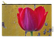 Red Tulip With Yellow Wall Carry-all Pouch
