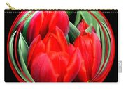 Red Tulips Under Glass Carry-all Pouch