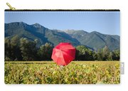 Red Umbrella On The Field Carry-all Pouch