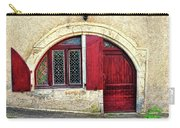 Red Windows And Door Provence France Carry-all Pouch