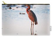 Reddish Egret Basking In The Sunset Carry-all Pouch