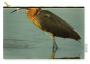Reddish Egret Caught A Fish Carry-all Pouch
