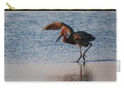 Reddish Egret Doing A Forging Dance Carry-all Pouch