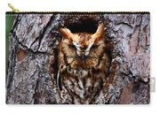 Reddish Screech Owl Carry-all Pouch