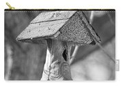 Redneck Cowboy Boot Birdhouse Bw Carry-all Pouch