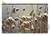 Reed In Snow Carry-all Pouch by Joana Kruse