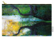 Reflected Tree In Pastel Landscape Carry-all Pouch