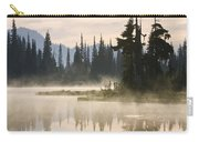 Reflection Lake With Mist, Mount Carry-all Pouch