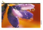 Reflection Of Flower In Dew Drops Carry-all Pouch