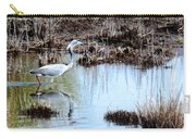 Reflections Of A Blue Heron Carry-all Pouch