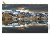 Reflections Of Cliffs On Blue Lake St Bathans Carry-all Pouch by Colin Monteath