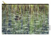 Reflections On Duck Pond Carry-all Pouch by Sharon Talson