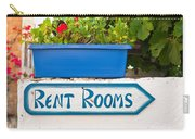 Rent Rooms Sign Carry-all Pouch