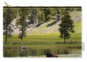 Resting Buffalo By Pond Carry-all Pouch