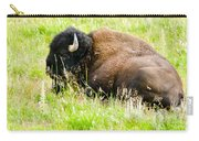 Resting Buffalo Carry-all Pouch