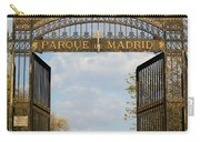 Retiro Park Entrance In Madrid Carry-all Pouch