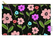 Retro Florals Carry-all Pouch by Louisa Knight