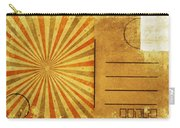 Retro Grunge Ray Postcard Carry-all Pouch