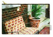Retro Grunge Sidewalk Bench Seat Carry-all Pouch