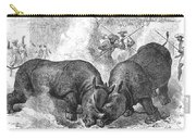 Rhinoceros Fight, 1875 Carry-all Pouch