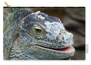 Rhinoceros Iguana Carry-all Pouch by Fabrizio Troiani