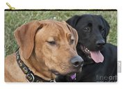Rhodesian Ridgeback And Black Lab Carry-all Pouch