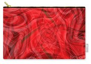 Ribbons Of Red Abstract Carry-all Pouch